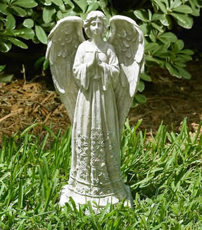 Standing Garden Angel In Prayer Statue