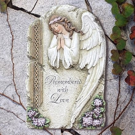 Resin angel plaque with praying angel design for Praying angel plant