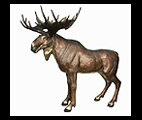 Life Size Standing Moose Statue II