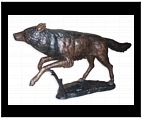 Large Bronze Wolf Sculpture