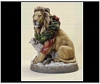 Large Lion and Lamb statue