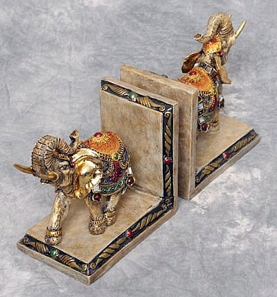 Colorful Elephant Bookends