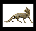 Antique Brass Fox Statue