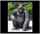 Life Size Sitting Gorilla Sculpture