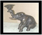 Bronze Sitting Elephant Candle Holder - Small
