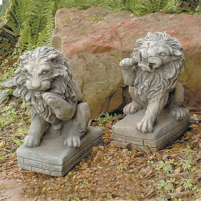 Guardian Lions Set, concrete lions