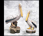 Romantic Pelican Couple Sculptures