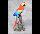 Parrot Sculpture - Blue and Red