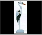 Indoor Blue Heron Statue with Base
