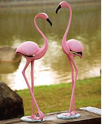 Large Garden Flamingo Statues