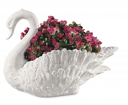 Garden Swan Planter With Classical Look
