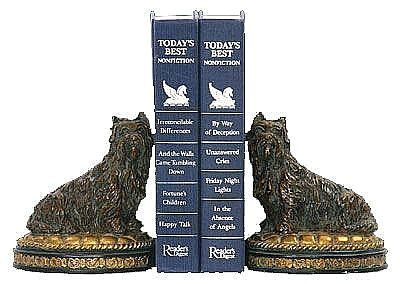 Set of Cairn Terriers Bookends