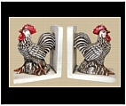 Rooster Themed Bookends