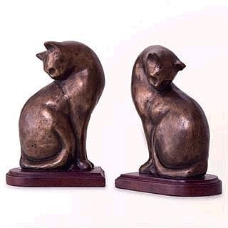 Sitting Cat Bookends