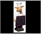 Large Chef Pig Statue with Chalkboard - Resin