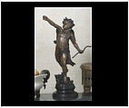 Bronze Cupid Statue with Bow