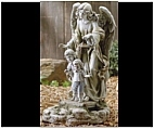 Angel Solar Statue with Children