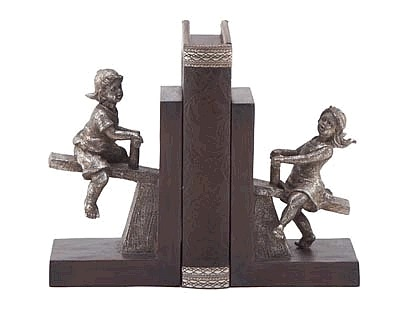 Happy Boy and Girl Bookends