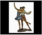 Dancing Ballet Couple Large Sculpture