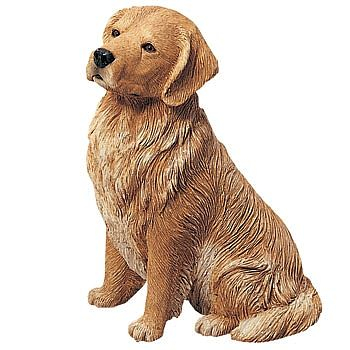 Sitting Golden Retriever Figurine