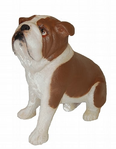 Large Bulldog Statue - Hand Painted