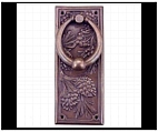 Rectangular Pinecone Door Knocker