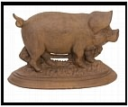 Large Pig Door Stop - Cast Iron