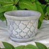 Rectangular Garland Planter, decorative concrete pots, garden planters
