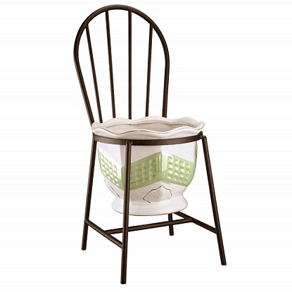 "Williamsburg Chair Plant Stand - Holds 10"" Pot"