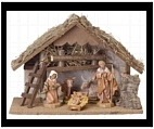 Nativity Set with Manger - Small