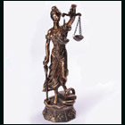 Blind Justice Statue bronze finish