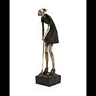 Lady Golfer Putting Figurine