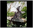 Woodland Flower Fairy Girl Statue