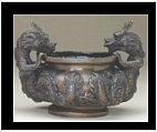 Bronze Dragon Body Urn