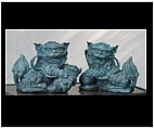 Bronze Foo Dogs Set