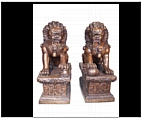 Set of Large Bronze Foo Lions