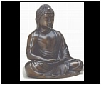 Bronze Buddha Sculpture in Mudra Pose