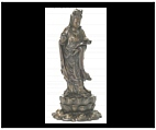Bronze Kwan Yin with Willow Branch
