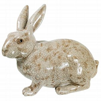 Ceramic Rabbit Statue