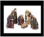Holy Family Sculpture with Three Kings