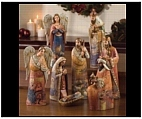 Indoor Nativity Set with Wood Carving Appeal