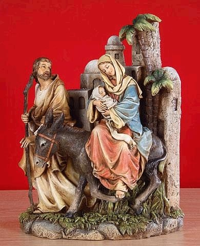 Holy Family Sculpture Through Bethlehem