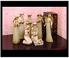 Indoor Nativity Set with Country Finish