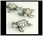 Set of 5 Mini Turtles II - Pewter