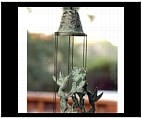 Hummingbird Windchime - Brass
