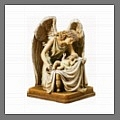 Explore life size monument angel sculptures for a memorial or cemetery with weeping angels like the Angel of Grief and guardian angels.