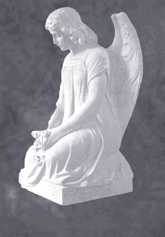 Cemetery Angel Marble Sculpture