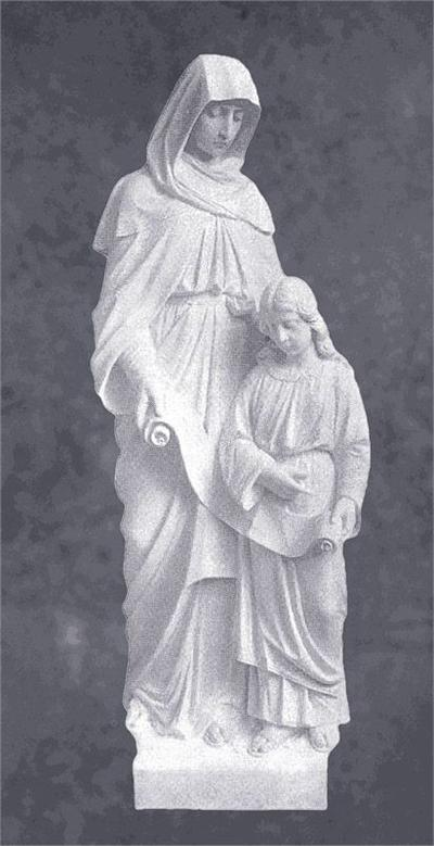 Saint Anne With Mary Sculpture
