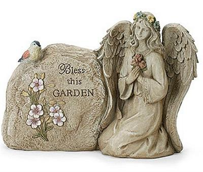 Garden Angel's Blessing Rock