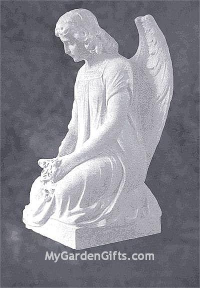 Cemetery Angel Marble Sculpture